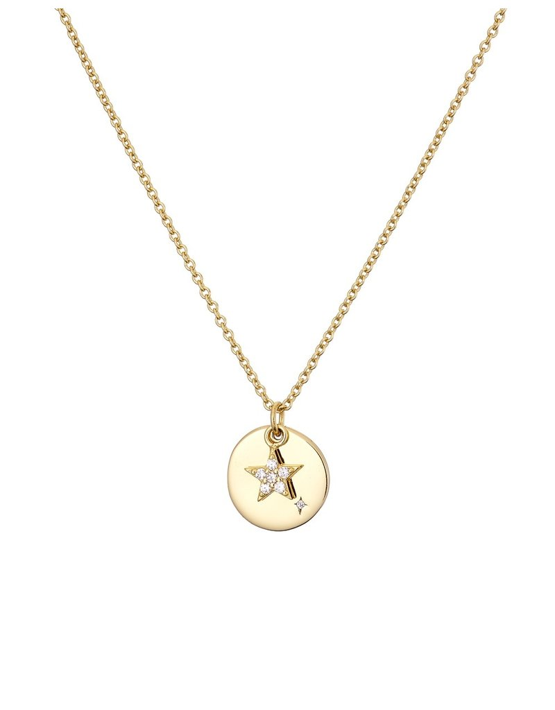 Mary k Jewellery Gold Disc and Pave Star Necklace