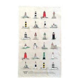 Clover Rua Irish Lighthouses Tea Towel