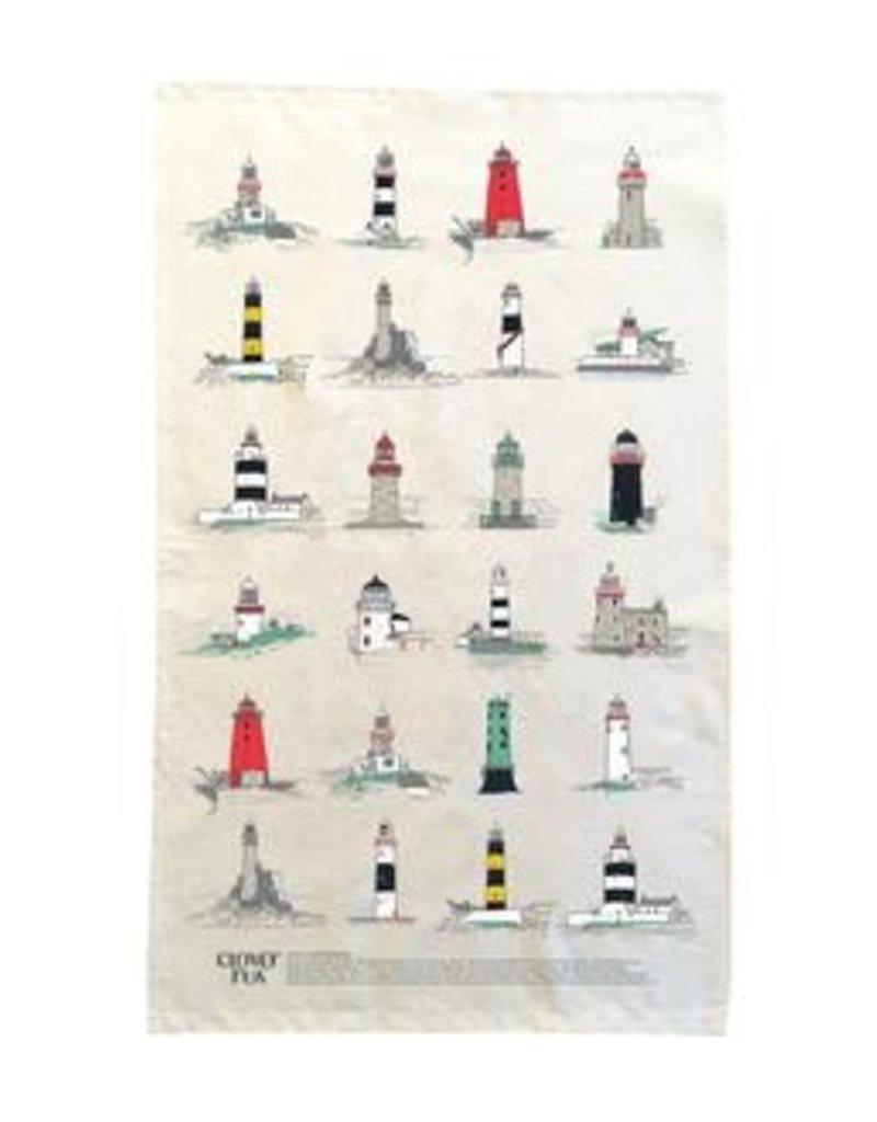 Irish Lighthouses Tea Towel