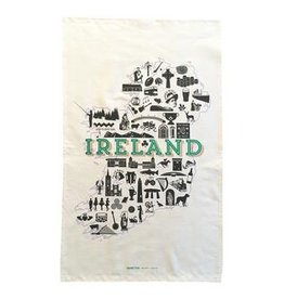 Clover Rua Ireland Icons Tea Towel