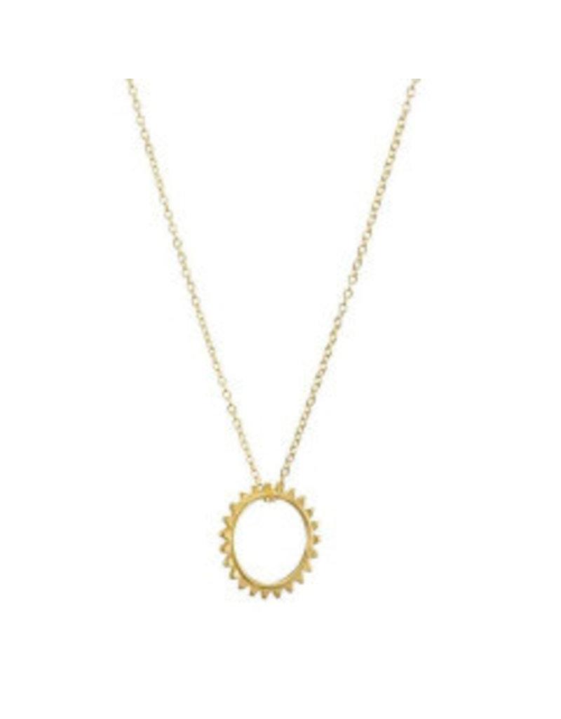 Gold Vermeil Sun Necklace