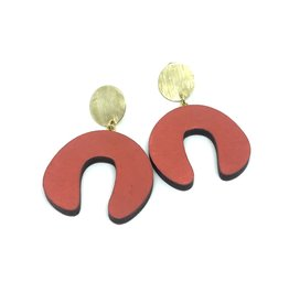 Shock Of Grey Damian's Doodle Earrings - Red