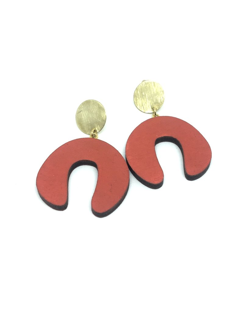 Damian's Doodle Earrings Red