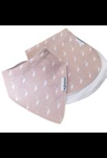 Pink Stork Dribble Bib and Burp Cloth Gift Set