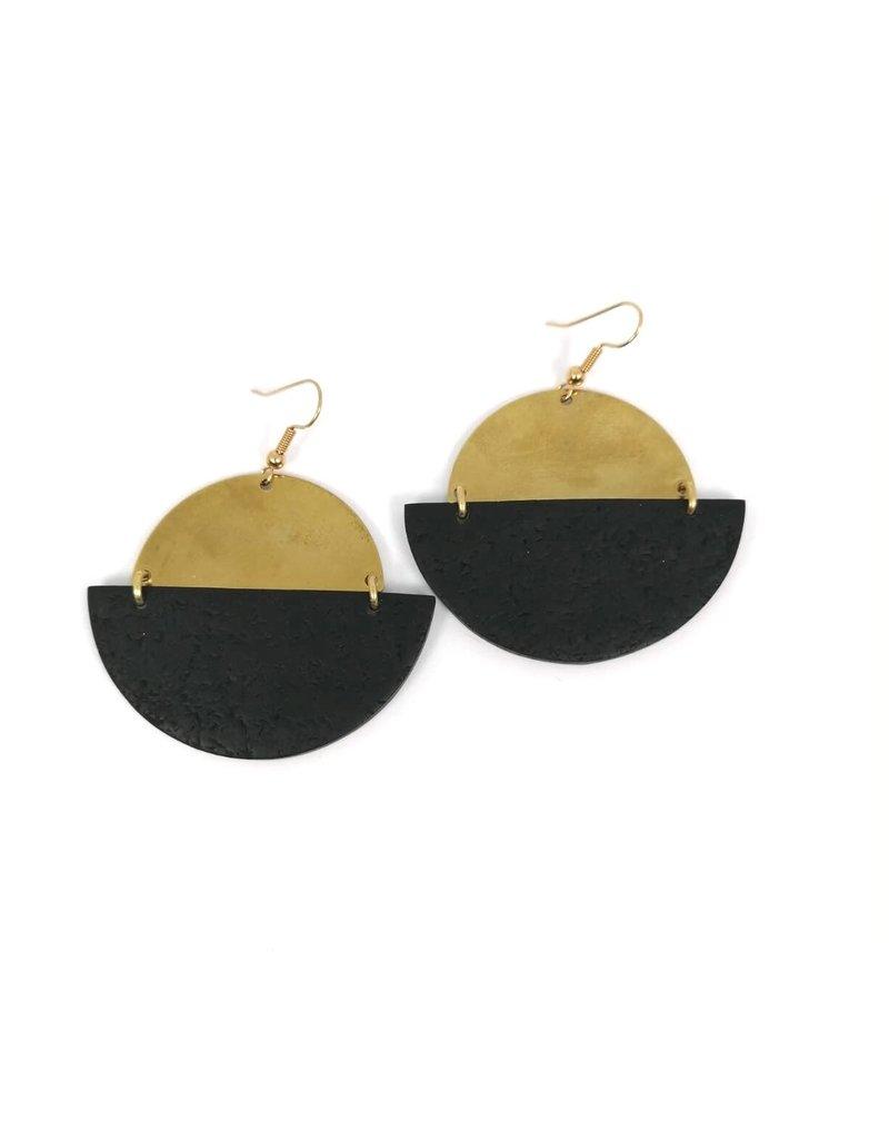 Daki Daki Design Brass Cara Earrings