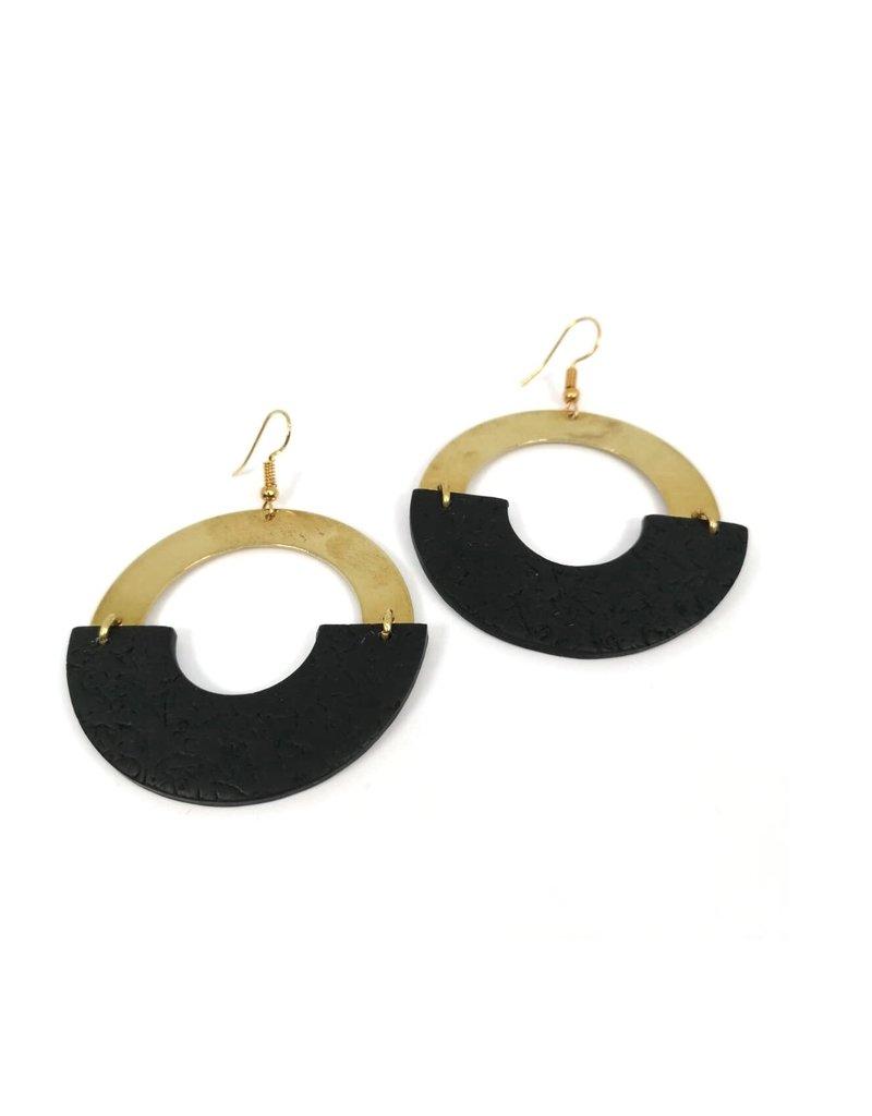 Daki Daki Design Brass Pola Earrings