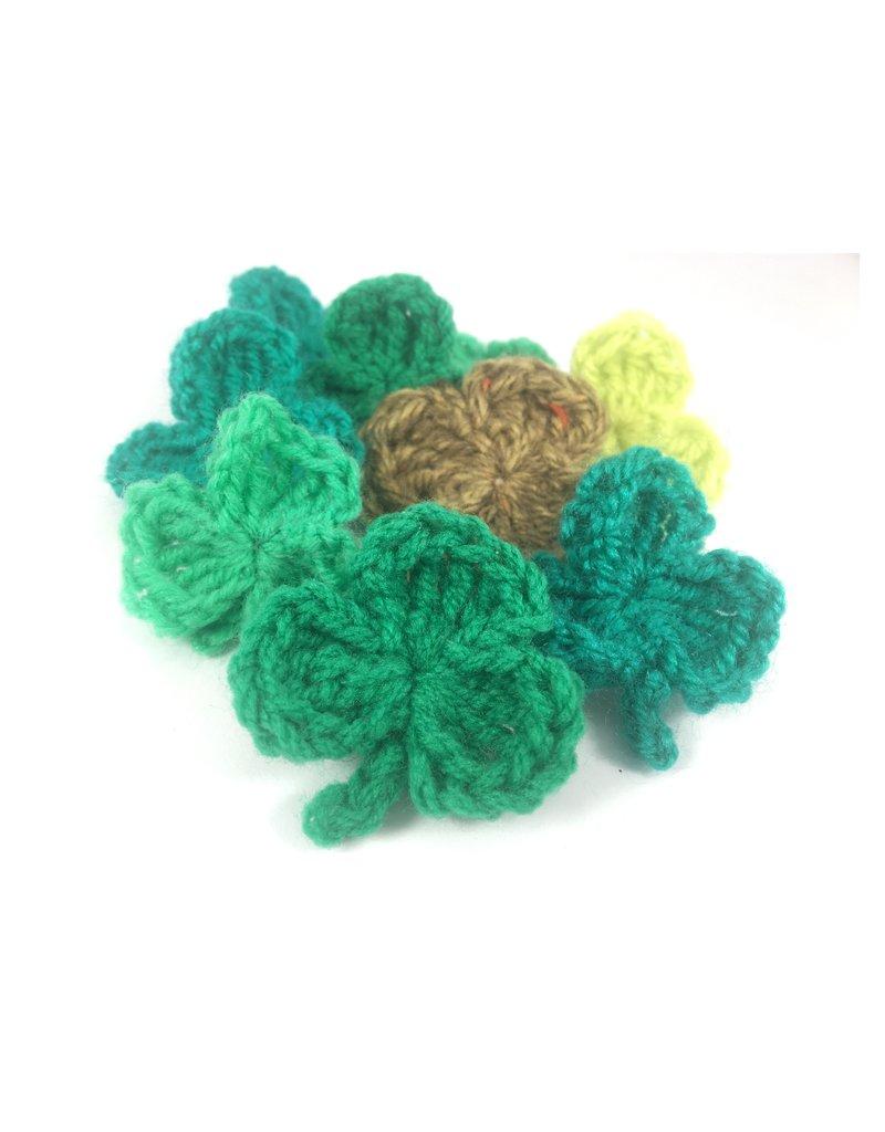 Shamrock Crochet Brooch