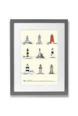 Clover Rua Irish Lighthouses A4 Print