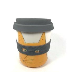 Karo Art Bandit / Superhero Porcelain Takeaway Cup - Fox