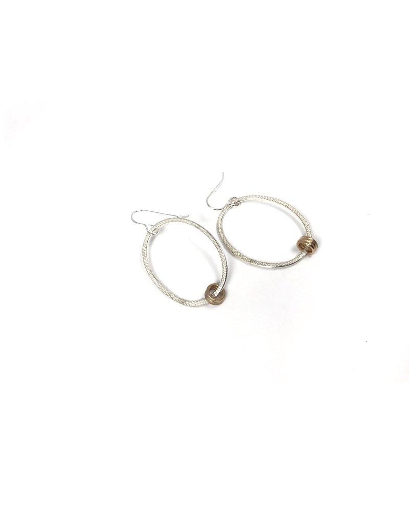 Drift Oval Drop Earrings