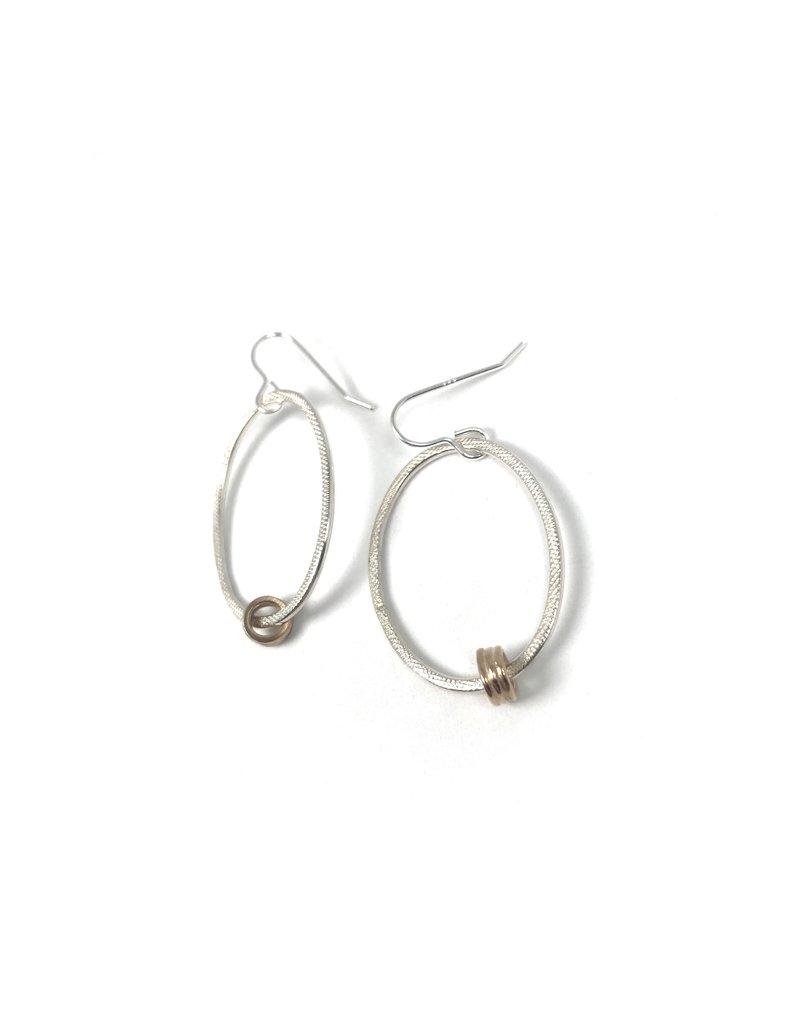Lynsey De Burca Drift Oval Drop Earrings
