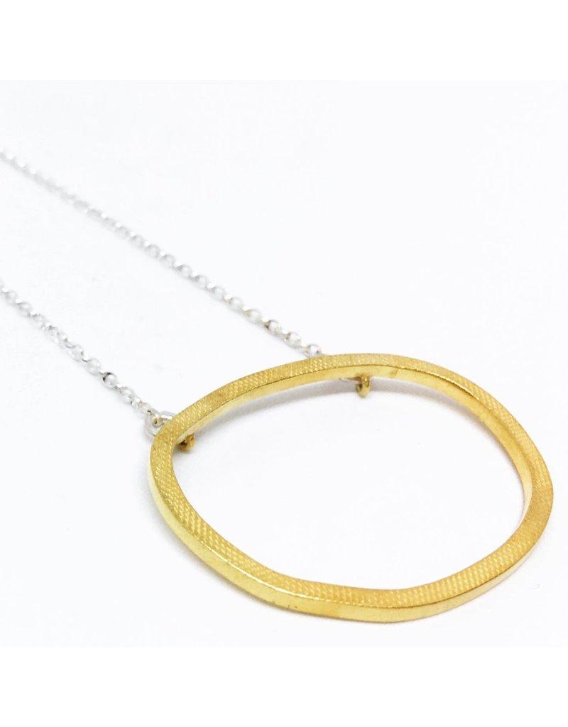Gold Drift Pendant  Necklace