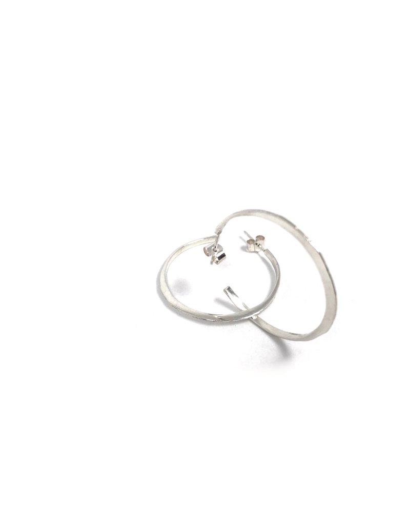 Silver Ciorcail Large Hoop Earrings