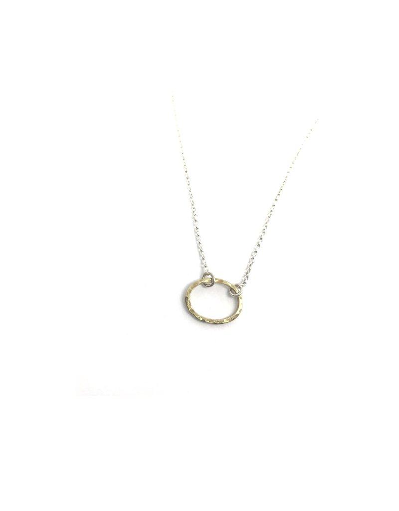 Lynsey De Burca Gold Tarrea Pendant Necklace