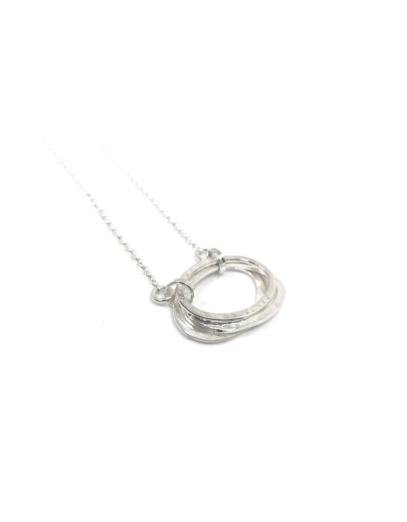 Lynsey De Burca Silver Carran Pendant Necklace