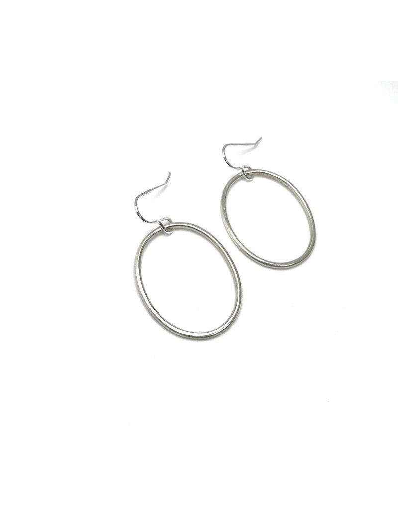 Lynsey De Burca Silver Coolin Earrings