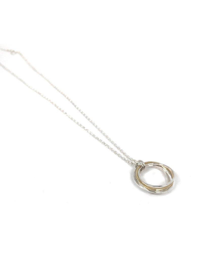 Lynsey De Burca Silver and Gold Doorus Necklace