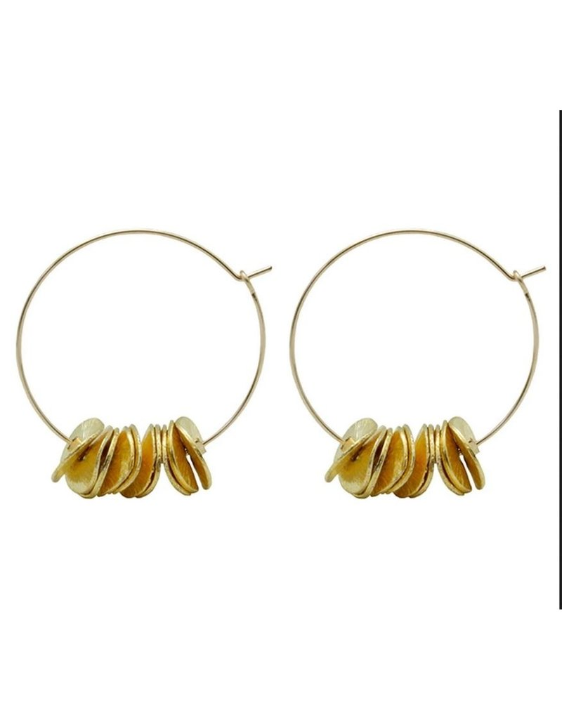 Vivien Walsh Gold Maxi Petal Hoops