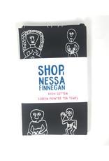 Nessa Finnegan Sheela-Na-Gig Black Teatowel