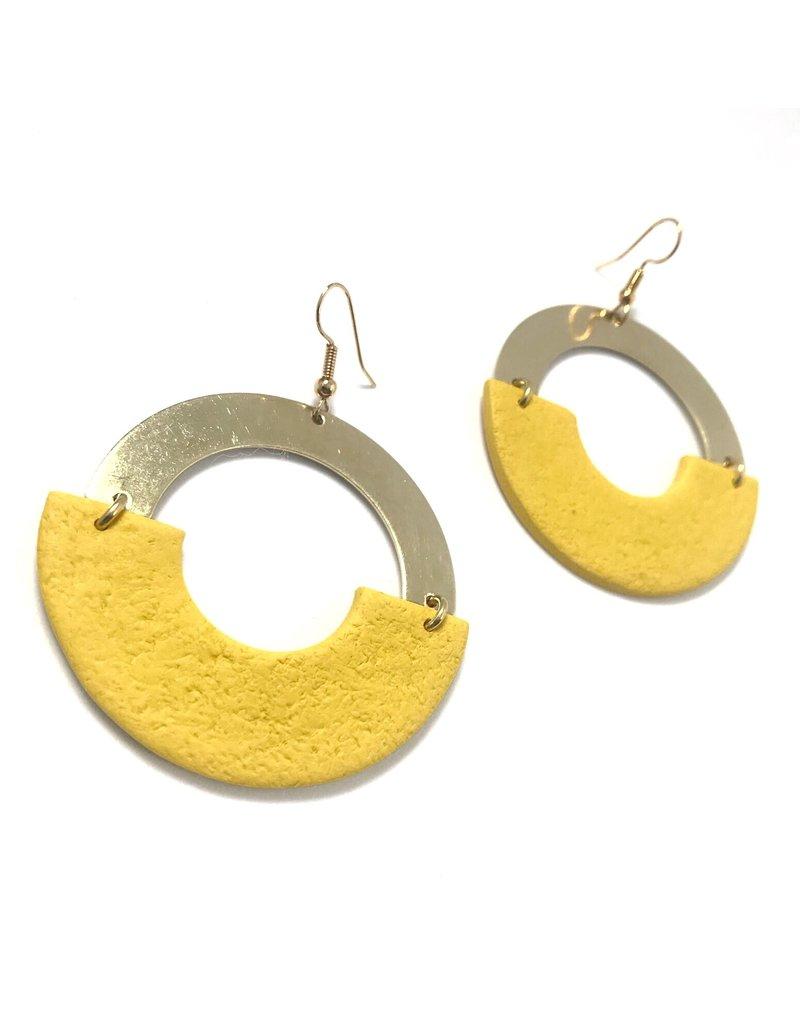 Daki Daki Design Brass Lumi Earrings
