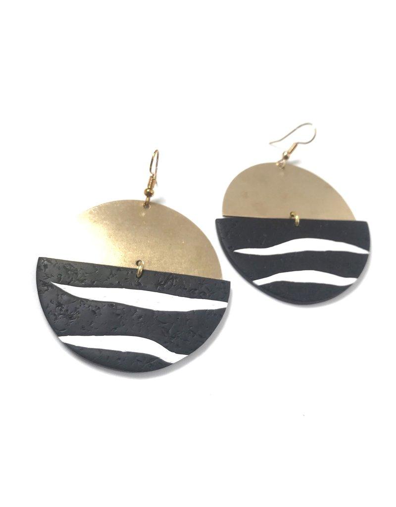Daki Daki Design Zebra Earrings