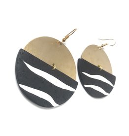 Daki Daki Design Brass Zebra Earrings
