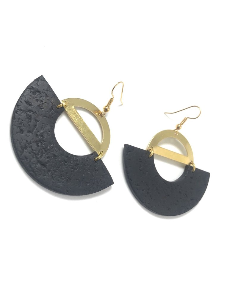 Daki Daki Design  Brass Mara Earrings