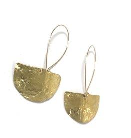 Daki Daki Design Small Halfmoon Brass Earrings