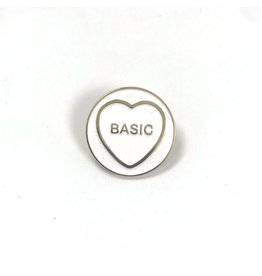 Fintan Wall Design Basic Hate Heart White/Black Enamel Pin