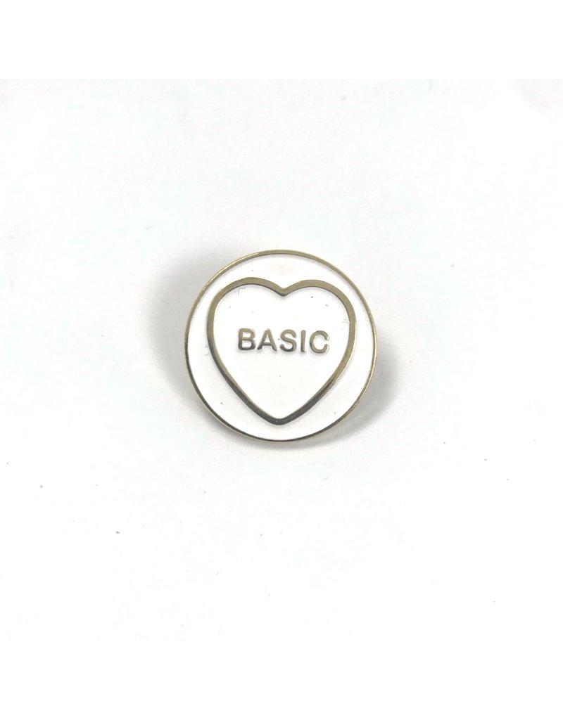 Fintan Wall Design Basic Hate Heart White/Black Enamel Pin