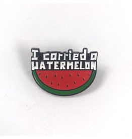 Fintan Wall Design I Carried A Watermelon Enamel Pin