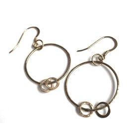 Ghost and Bonesetter Gold Dropped Hoop Earrings