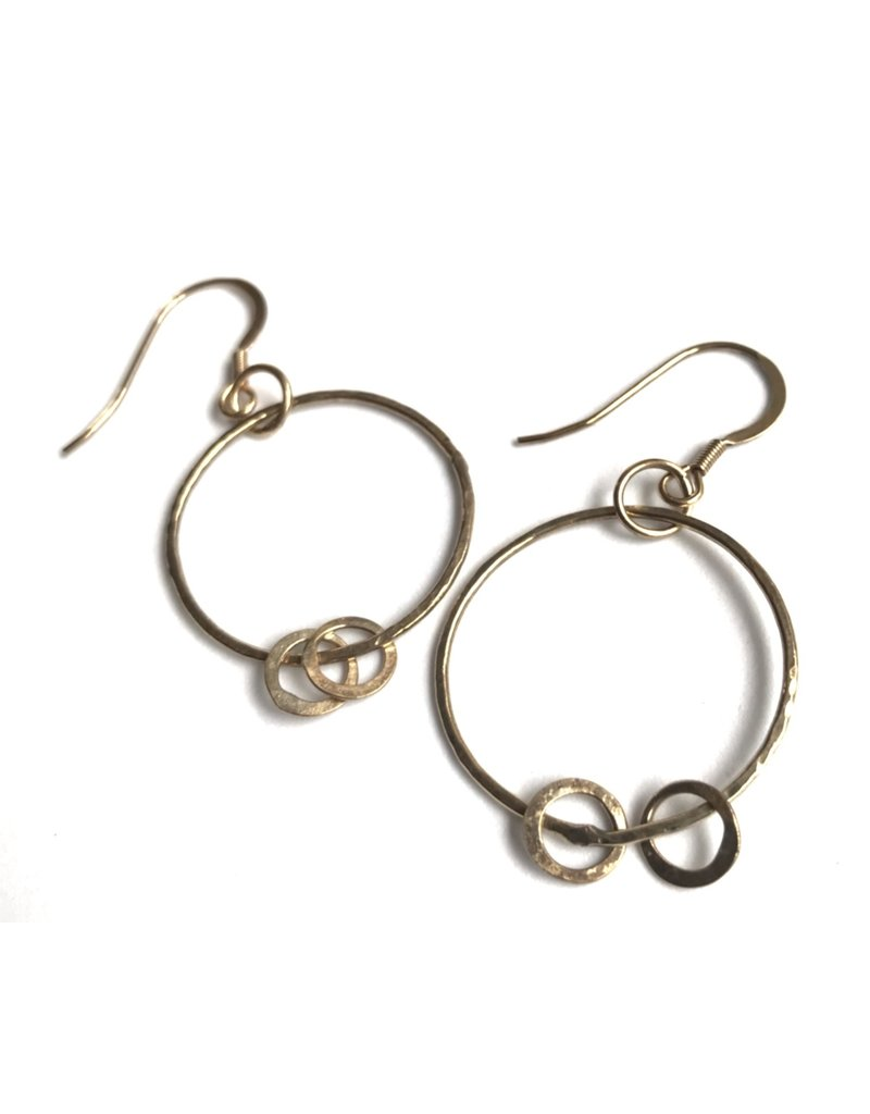 Ghost and Bonesetter Gold Plated Dropped Hoop Earrings
