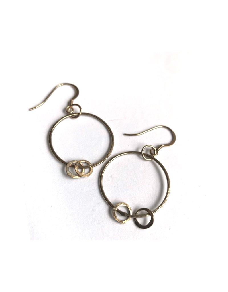 Ghost and Bonesetter Gold Drop Hoop Earrings