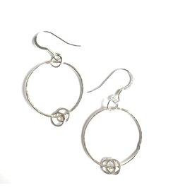 Ghost and Bonesetter Silver Dropped Hoop Earrings