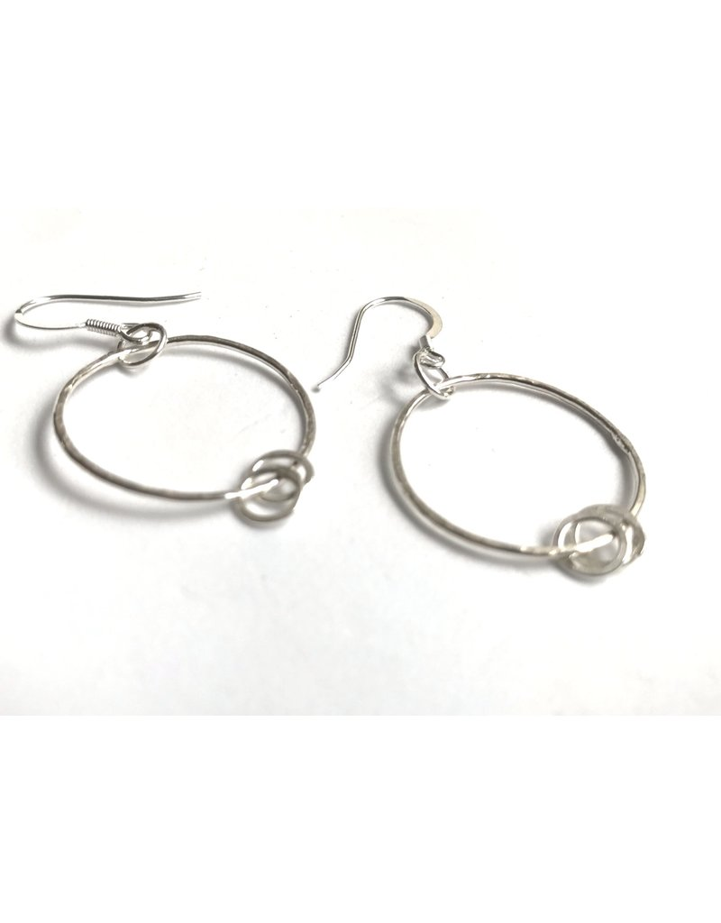 Ghost and Bonesetter Silver Drop Hoop Earrings