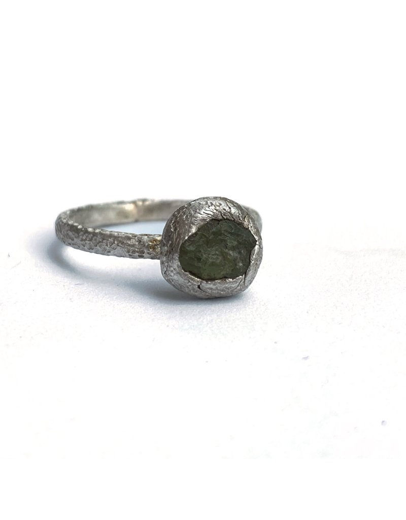 Ghost and Bonesetter Organic Ring with Green Onyx