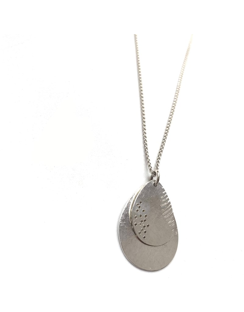 Berina Kelly Shore Leaf and Feather  Silver Pendant