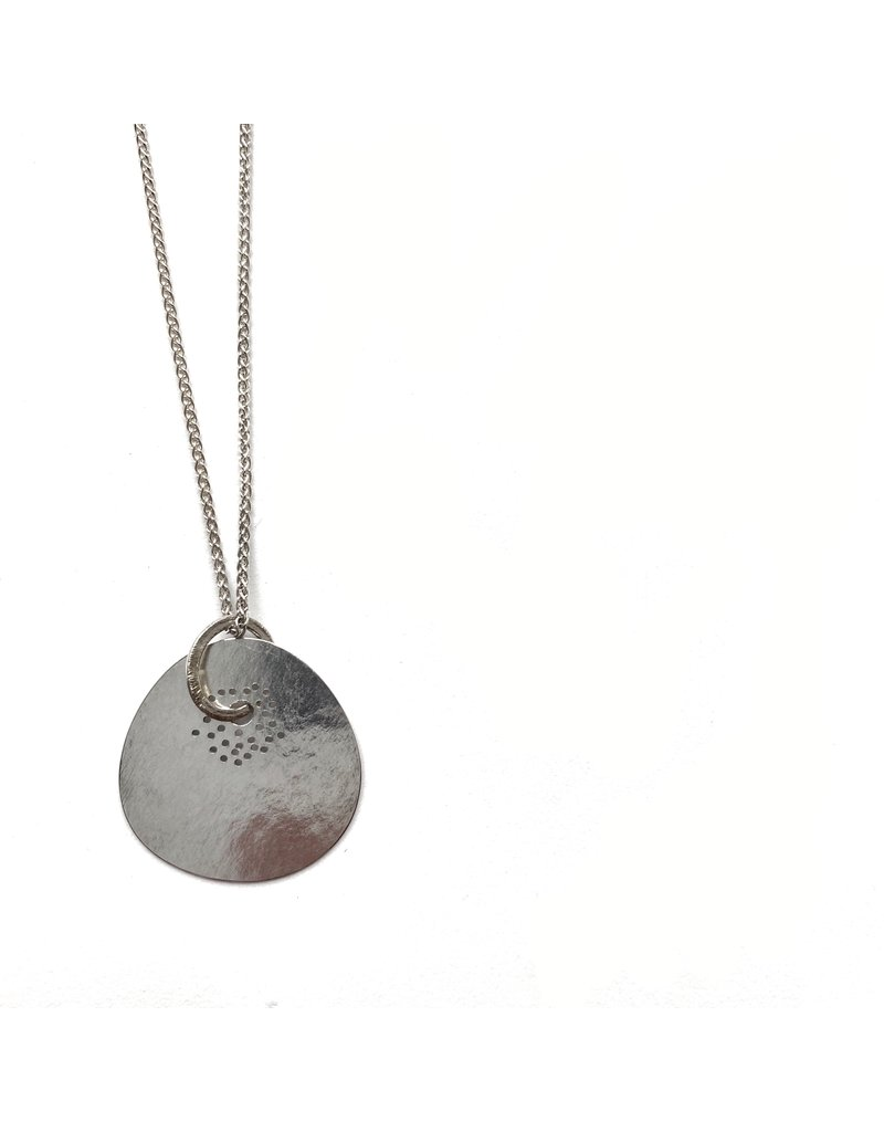 Berina Kelly Shore Disc and Ring Silver Pendant