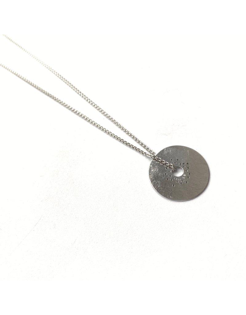 Berina Kelly Circle Collection Silver Pendant Small