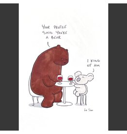 Rob Stears Tinder Date  A4 Print