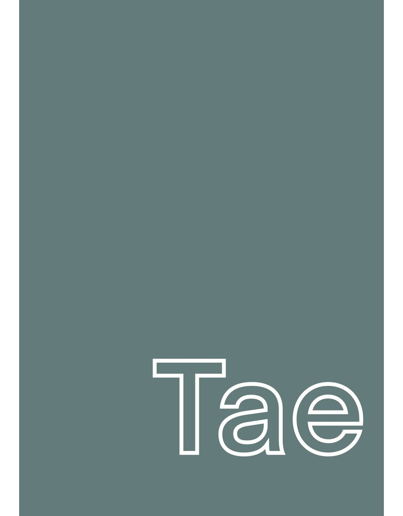 My Shop Collection Tae in Green A4 or A3  Print