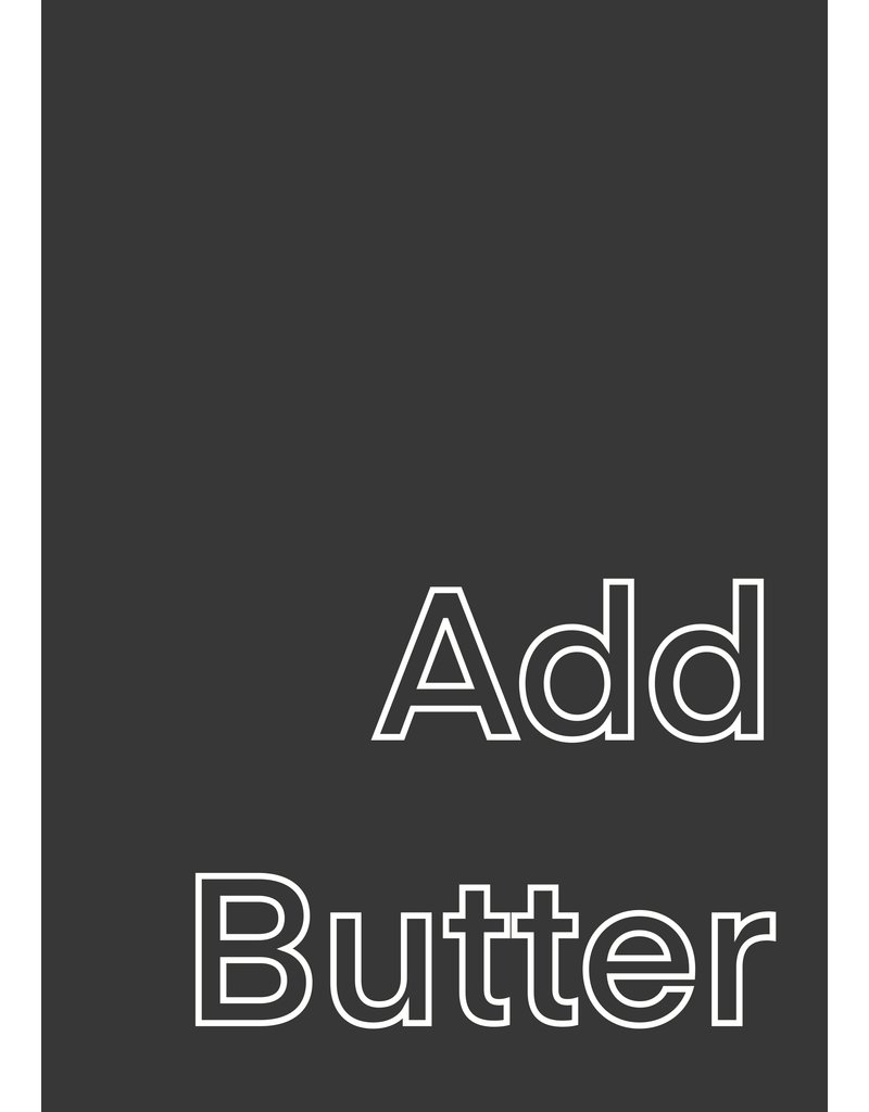 My Shop Collection Add Butter A4 Print - Grey