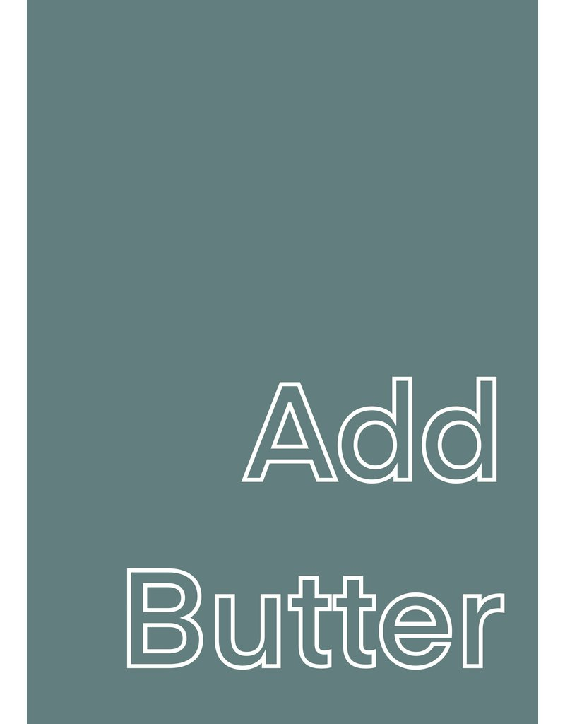 My Shop Collection Add Butter Green A4  or A3 Print
