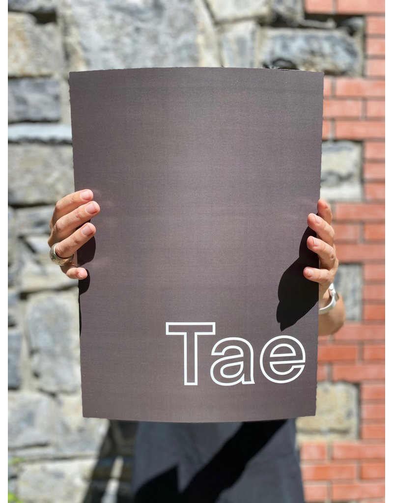 My Shop Collection Tae in Grey A4 or A3 Print