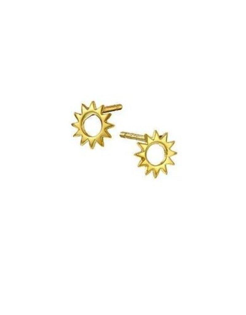 Mary k Jewellery Gold Sun Stud Earrings