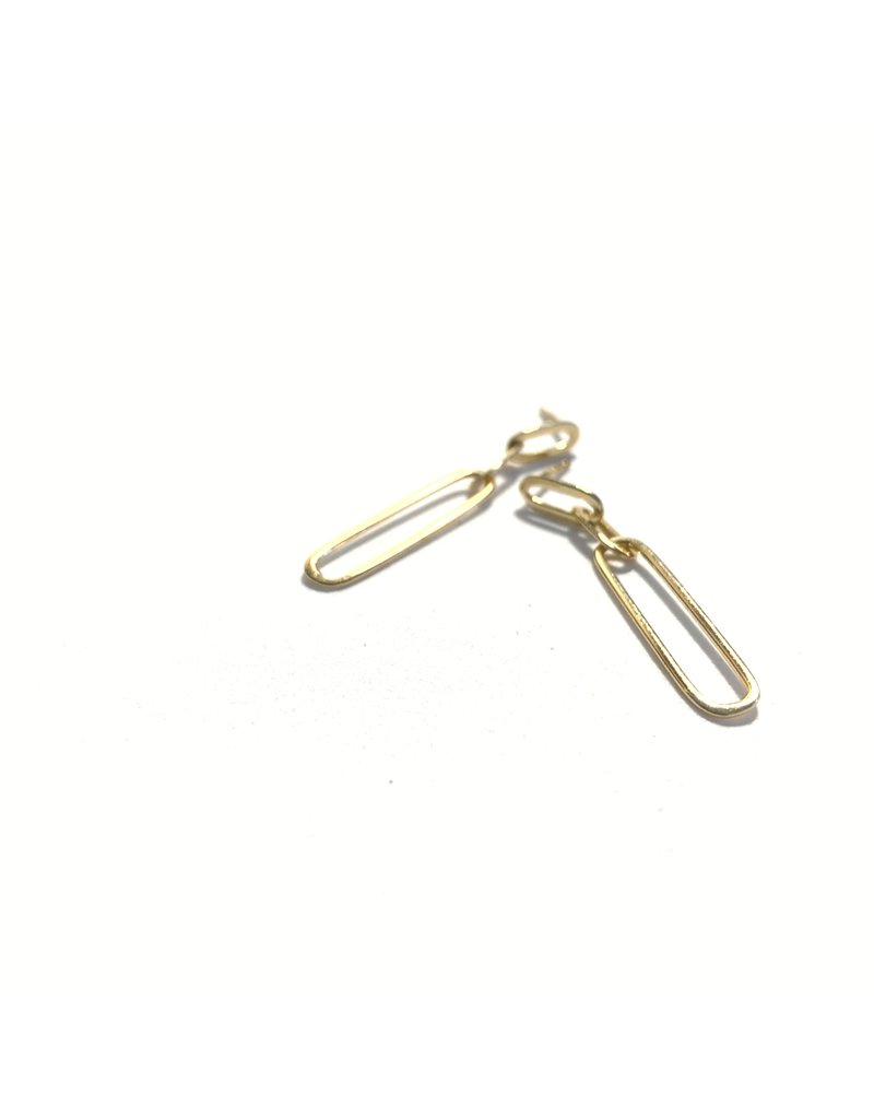 Mary k Jewellery Gold Drop Link Earrings