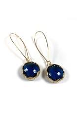 KKajoux Jewels Zante Blue Long Earrings