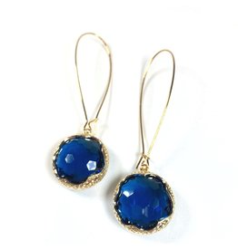KKajoux Jewels Zante Blue Long Earrings