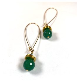KKajoux Jewels Siam Green Long Earrings